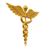 Golden Caduceus Medical Symbol Royalty Free Stock Photo