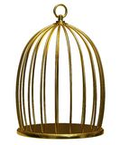 Golden Cage. On a white background Royalty Free Stock Image