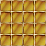 Golden cage abstract yellow  pattern design. Geometric pattern. Design elements. Bright golden cage abstract mosaic background. Sketch in yellow and brown colors Stock Images