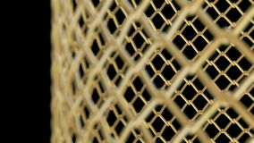 The Golden Cage with different DOF able to loop seamless stock video