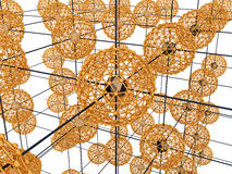 Golden cage with nodes №3 Royalty Free Stock Photo