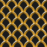 Golden cage seamless pattern Stock Photo