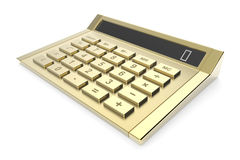 Golden calculator Royalty Free Stock Images
