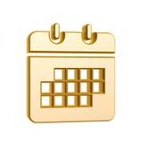 Golden calendar symbol Royalty Free Stock Photos