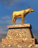 Golden Calf Royalty Free Stock Image