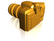 Golden camera Royalty Free Stock Photo