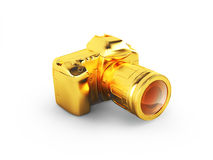 Golden camera Royalty Free Stock Photos
