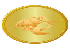 Golden cancer Royalty Free Stock Images
