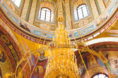 Golden Candelabrum at Dome Royalty Free Stock Image