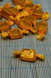 Golden candies Royalty Free Stock Images
