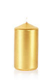 Golden candle Stock Images