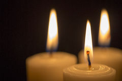 Golden candle group - Stock Image Stock Photography
