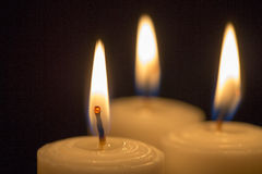 Golden candle group - Stock Image Royalty Free Stock Image