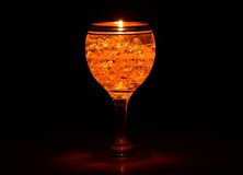 Golden candle Stock Photography