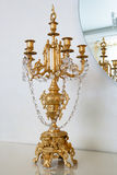 Golden candlestick Stock Photos