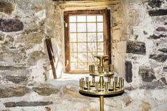 Golden candlestick Royalty Free Stock Photos