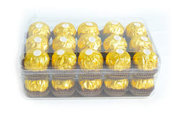 Golden Candy package Stock Photo