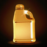 Golden canister  on black background. Royalty Free Stock Photos
