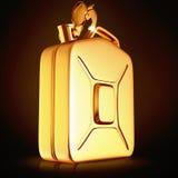 Golden canister  on black background. Stock Images