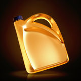 Golden canister  on black background. Stock Image