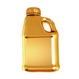 Golden canister isolated on white background. Stock Image