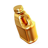 Golden canister isolated on white background. Stock Photos