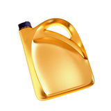 Golden canister isolated on white background. Royalty Free Stock Photos