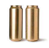 Golden cans Stock Image