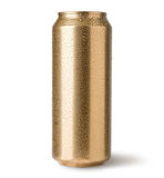 Golden cans Stock Images