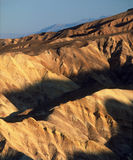 Golden Canyon badlands in early evening, Death Valley National Park, California stock image