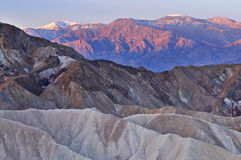 Golden Canyon and Panamint Mountains Stock Images