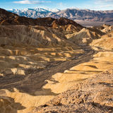 Golden Canyon at Sunrise in Death Valley Stock Photography