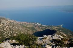 Spectacular view from Vidova Gora on Golden Cape a Royalty Free Stock Images