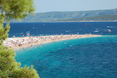Picturesque view on Golden Cape on Brac island, Cr Stock Images