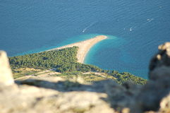 Picturesque view on Golden Cape on Brac island, Cr Royalty Free Stock Images