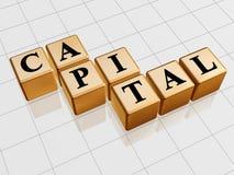 Golden capital Stock Photos