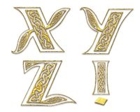 Golden Capital Letters 7 Stock Image