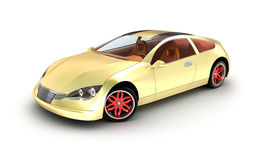Golden car concept. My own design. Royalty Free Stock Photo