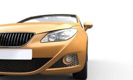 Golden Car Headlights Royalty Free Stock Photos