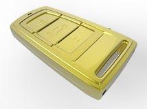 Golden car key case vector illustration