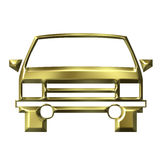 Golden car model Stock Photo