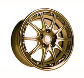 Golden car rim Royalty Free Stock Images