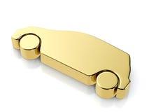 Golden car symbol Stock Photo
