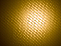 Golden carbon fiber Royalty Free Stock Image