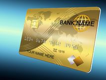 Golden card Stock Photo