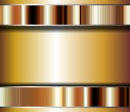 Golden card, background. Golden card with dark and silver hues, abstract design Stock Photos