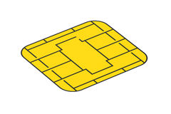 Golden card chip Stock Image