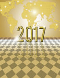 2017 golden card Royalty Free Stock Photo