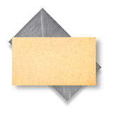 Golden card and silver envelope. Royalty Free Stock Photos