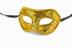 Golden carnival mask Stock Image
